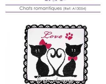 Romantic cats - cross stitch pattern