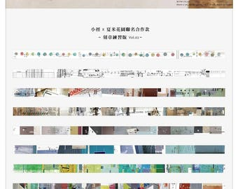 New Chamil Garden PRE ORDER Set of 8 Collage Design Slim Tapes Vol. 2 Meeting