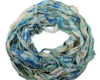 SALE New! Sari Silk Ribbon, 100g , Splash Collection
