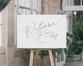RUSH ORDER Wedding Welcome sign for Courtney