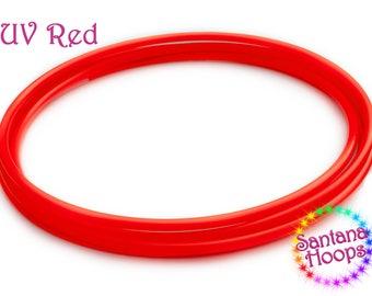 "5/8"" UV Red polypro Hula Hoop"