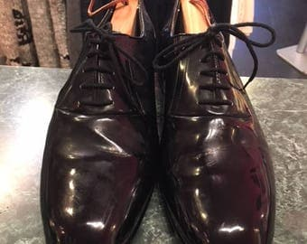 Black Patent Tuxedo Men Shoes