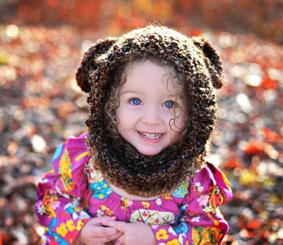 Warm & Cozy Soft Brown Bear Hood