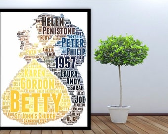 Personalised Word Art Gift Framed Print Beauty & The Beast Wedding Anniversary Birthday Christmas Gift For Him For Her
