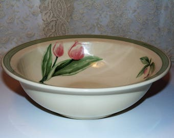 pfaltzgraff garden party large vegetable bowl pfaltzgraff dinnerware garden party pattern flowers