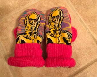 Girls C-3PO Mittens
