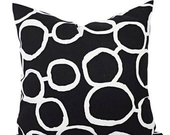 15% OFF SALE Black White Couch Pillow Covers - Two Black and White Throw Pillows - Sofa Pillow Cover - Accent Pillow - Black Pillow Cover