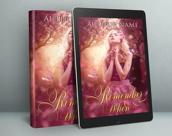 premade book cover art with young blonde fantasy girl in forest