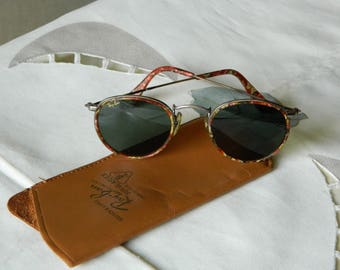 Vintage rare B&L Ray Ban Mosaic Gunmetal Bronze Chip W 1677 XXAW G15 XLT 45 mm Sunglasses. Made in the USA.Exc*****