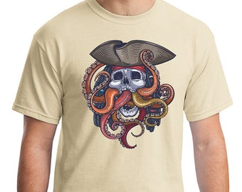 Colorful Steampunk Theme Pirate Octopus Kraken