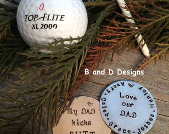 Father's Day Golf markers Gift for Dad Gift for Grandpa Golf tee marker