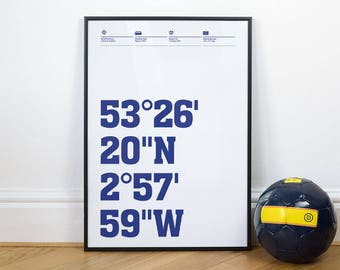 French League Football Stadium Coordinates posters