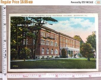10% OFF 3 day sale Vintage Post Card Haven Hall Edinboro Teachers College Edinboro Pa Used