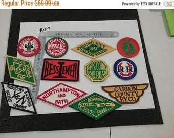 10% OFF 3 day sale Vintage unused lot of 12 assorted  RailRoad PATCHES