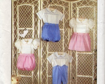 Classic Heirloom Sewing, Toddler's Dress or Romper w/ Pull-on Skirt, Shorts - Size 1/2 to 3