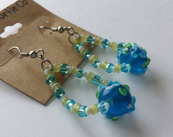 Beaded Tear-Drop Earrings
