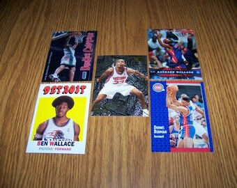 25 Detroit Pistons Basketball Cards