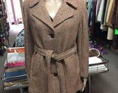 100% Tweed Wool Coat...
