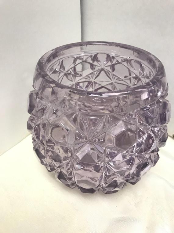 Lavender glass vase
