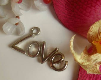 pretty pendant with inscription love