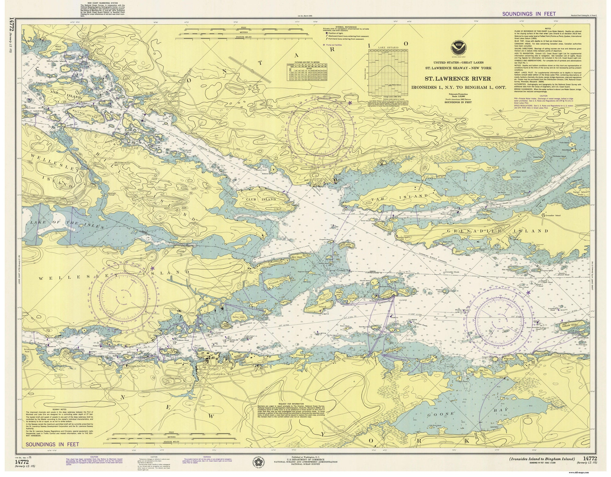St Lawrence RiverAlexandria Bay Ironsides Island To Bingham - Us map with st lawrence river