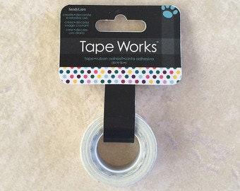 Tape works rainbow dot washi