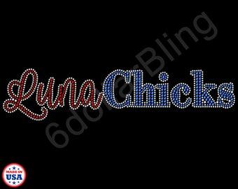 Custom Bling Rhinestone Transfer - LunaChicks