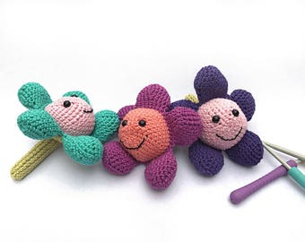 PDF beginners crochet pattern, Baby rattle, teether, amigurami, baby gift