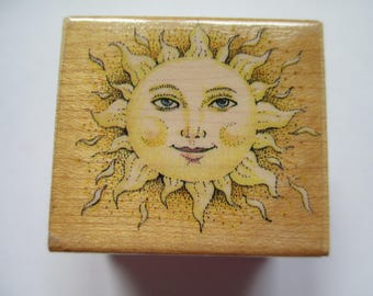 "Rubber Stamp  "" Smiling Face Sun""  used good condition"