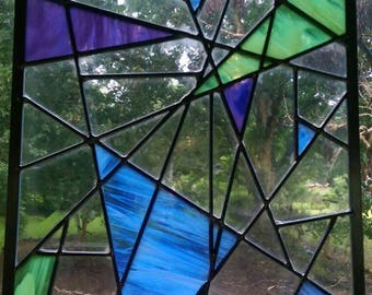 Shattered Stained Glass Window Panel