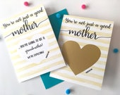 Pregnancy Scratch Off Card - Baby Announcement for Mom - You're not just a good mother you're going to be a grandmother - STRIPES