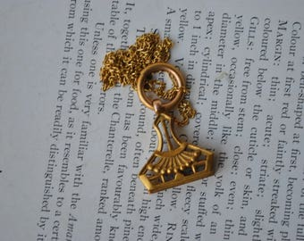 Antique Watch Fob Pendant - 1910s Edwardian Watch Fob Necklace