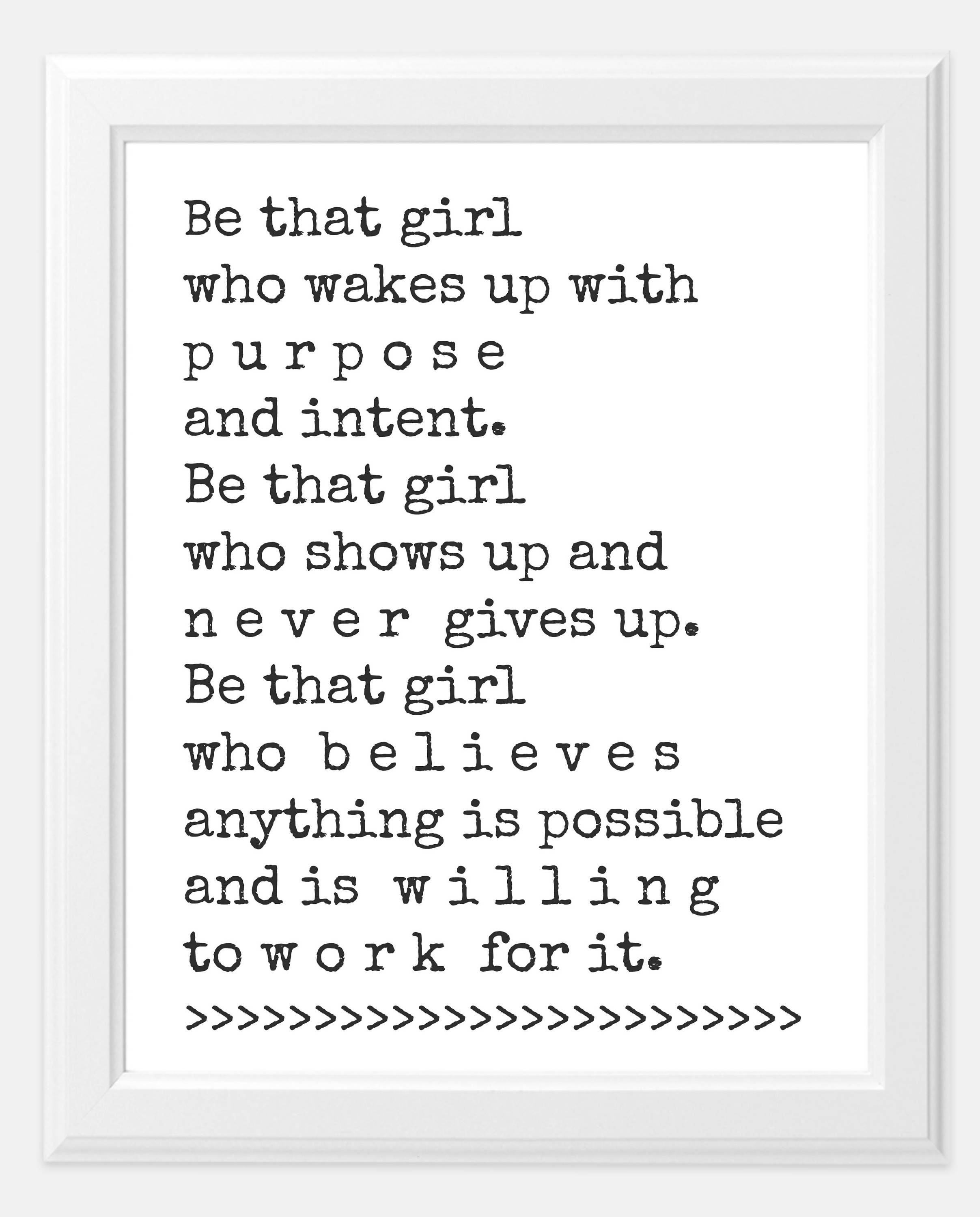 Custom Quote Prints Girl Boss Quote Set Goals Print Goals Print 8X10 Print Matte Print