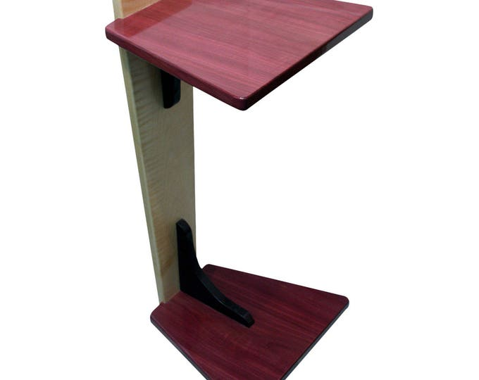 Perching Table - Curly Maple & Purple Heart (Large Size)