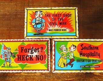 Vintage 60s Civil War Centennial IMPKO Stickers Lot