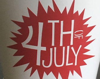 4th of July, Independence Day Vinyl Decal
