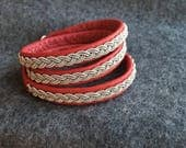Final payment for Elaine's red tripple wrap bracelet.