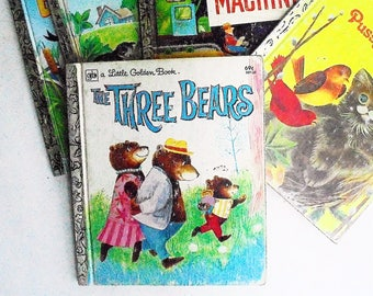 The Three Bears by Mabel Watts  (1981, A Little Golden Book)  Vintage Children's Picture Book Illustrated by June Goldsborough