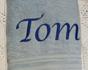 bath towel personalized with name