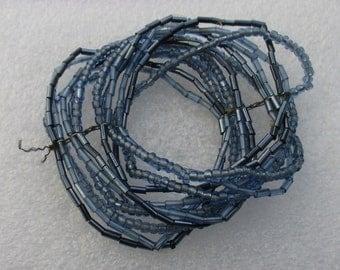 Retro Blue Glass Beaded Bracelets Restring Repurpose