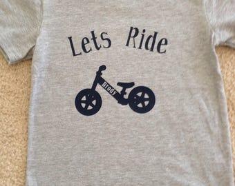 Strider bike bmx shirt personalized