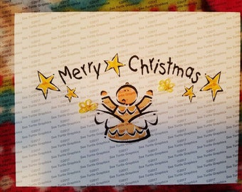 Tatted Notecards - Christmas Angel