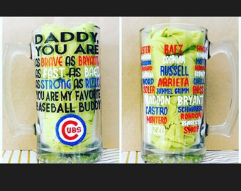 Chicago Cubs Daddy Mug- Father's Day Gift- Father's Day Mug- World Series Champions 2016 baseball gift gifts for dads chicago cubs fan gift