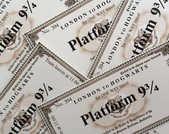 Wizarding Express Train Tickets