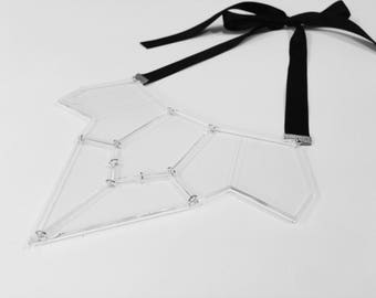 Clear Geometric necklace
