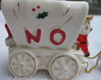 Noel MG Candle Holders Santa Claus Stagecoach Reindeer Christmas decoration Holt Howard only NO