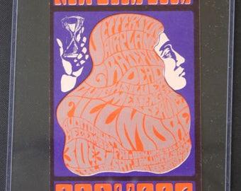 Original 1966 Jefferson Airplane Grateful Dead Bill Graham Fillmore Postcard 037