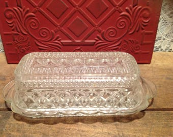 Clear Glas Butter Dish