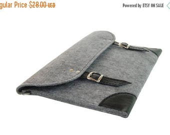 Christmasinjuly Laptop case, felt laptop sleeve, laptop cover, leather laptop bag, felt bag, felt laptop bag,13 inch laptop sleeve