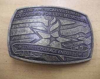 VIntage belt buckle---The American Veteran Disabled For Life Memorial